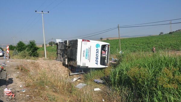 Balıkesir'de otobüs kazası - Sputnik Türkiye