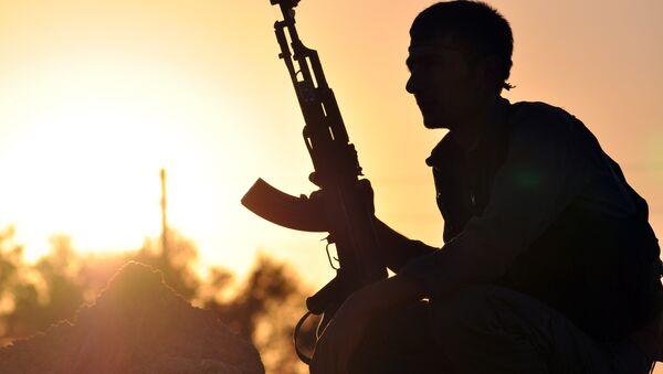Rakka yakınlarında YPG üyesi - Sputnik Türkiye