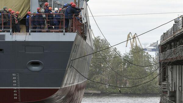 St. Petersburg'da Gremyaşiy korveti suya indirildi - Sputnik Türkiye