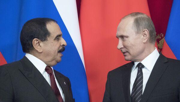 Vladimir Putin - Hamad Bin İsa el Halife - Sputnik Türkiye