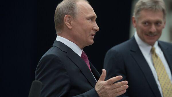 Rusya Devlet Başkanı Vladimir Putin- Kremlin Sözcüsü Dmitriy Peskov - Sputnik Türkiye