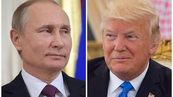 Rusya Devlet Başkanı Vladimir Putin ile ABD'li mevkidaşı Donald Trump - Sputnik Türkiye