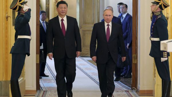Çin Devlet Başkanı Şi Cinping-Rusya Devlet Başkanı Vladimir Putin - Sputnik Türkiye