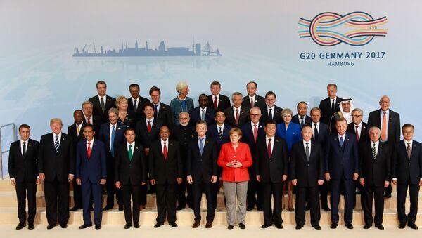 G20 Zirvesi'nde aile fotoğrafı - Sputnik Türkiye