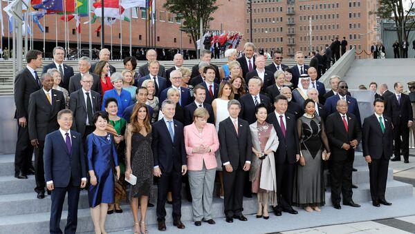G20 eşli aile fotoğrafı - Sputnik Türkiye