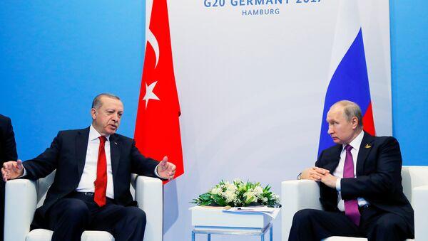 Recep Tayyip Erdoğan - Vladimir Putin / G20 2017 - Sputnik Türkiye