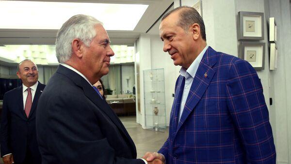 Rex Tillerson - Recep Tayyip Erdoğan - Sputnik Türkiye