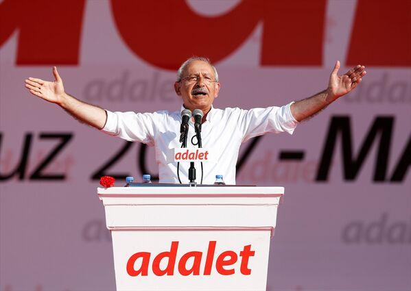 CHP lideri Kılıçdaroğlu, başlattığı 'Adalet Yürüyüşü'nü 25. gününde tamamlayarak Maltepe sahilinde düzenlenen mitinge katılarak konuşma yaptı. - Sputnik Türkiye