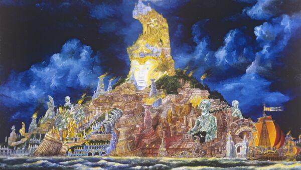 Vladimir Smirnov'un çizdiği 'Atlantis' (1979) - Sputnik Türkiye