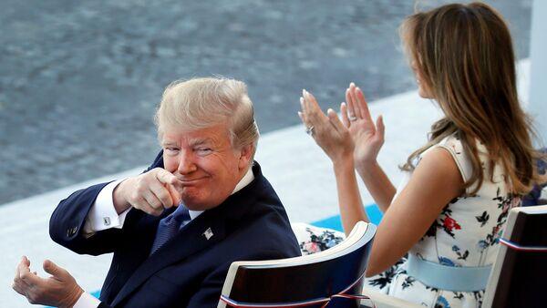 Bastille Günü / Donald Trump - Melania Trump - Sputnik Türkiye