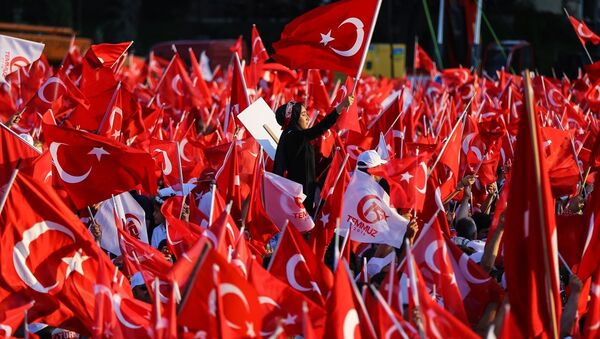 15 Temmuz Şehitler Köprüsü'nde darbe girişiminin birinci yılı için etkinlik gerçekleşiyor. - Sputnik Türkiye