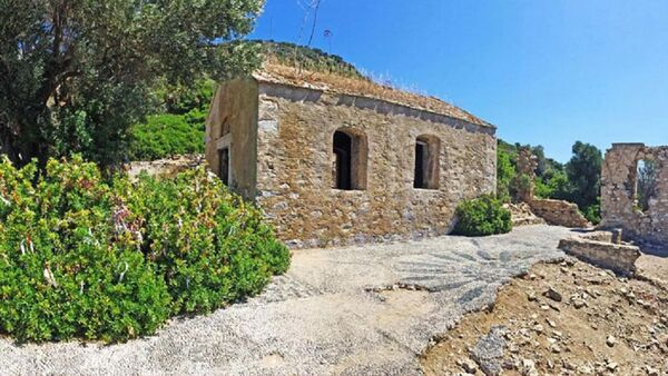 Marmaris İlçesi'ndeki Kameriye (Kamelya) Adası'nda 1800 yıllık Ortodoks Kilisesi - Sputnik Türkiye