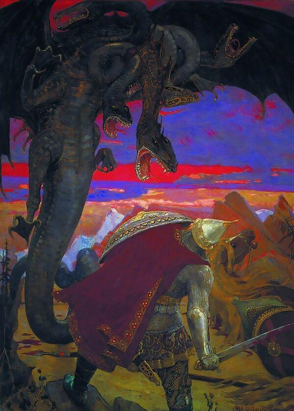 Dizide yer alan üç başlı ejderha, çok az bir farklılıkla Rus masallarında da yer alıyor. Zmey Goriniç isimli bu ejderha benzeri yaratık, Rus şövalyelerinin (bogatır) düşmanları arasındadır. - Sputnik Türkiye