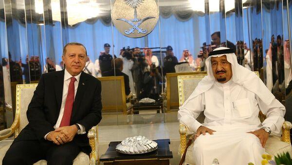 Cumhurbaşkanı Recep Tayyip Erdoğan- Suudi Arabistan Kralı Selman bin Abdülaziz - Sputnik Türkiye