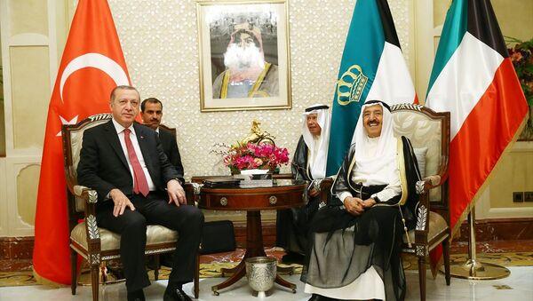 Türkiye Cumhurbaşkanı Recep Tayyip Erdoğan ve Kuveyt Emiri Şeyh Sabah el-Ahmed el-Cabir es-Sabah - Sputnik Türkiye