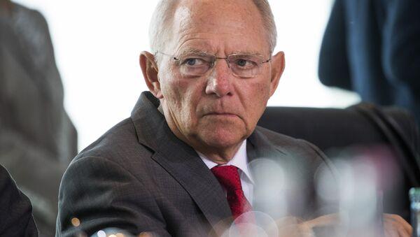 Almanya Maliye Bakanı Wolfgang Schaeuble - Sputnik Türkiye