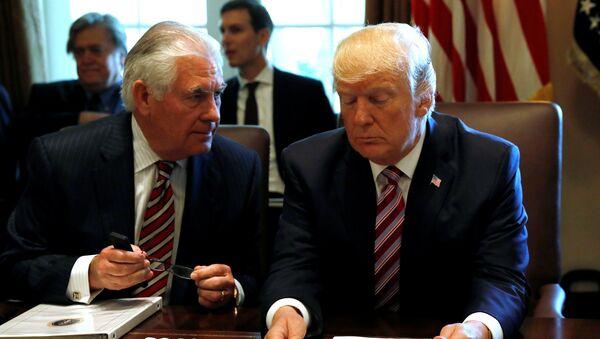 Donald Trump - Rex Tillerson - Sputnik Türkiye