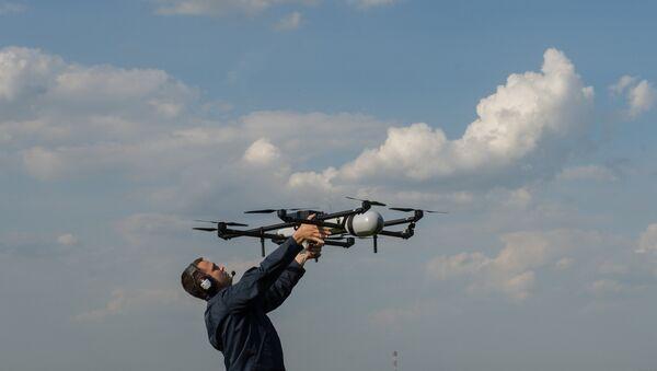 UAV demonstration flights in Moscow region - Sputnik Türkiye