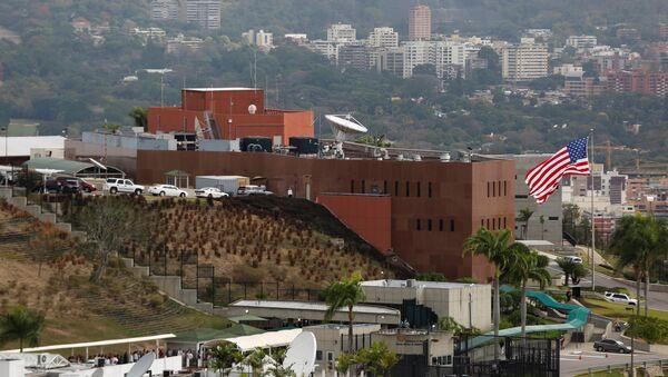 Venezüella'nın başkenti Caracas'taki ABD Büyükelçiliği - Sputnik Türkiye