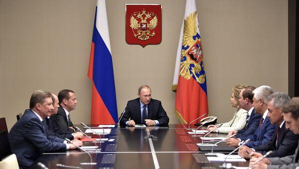 Rusya Devlet Başkanı Vladimir Putin, Rusya Güvenlik Konseyi'ni topladı - Sputnik Türkiye