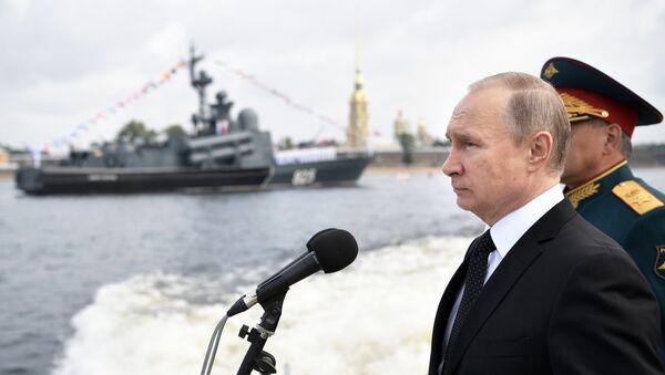 Rusya Devlet Başkanı Vladimir Putin, Rusya Donanması Günü - Sputnik Türkiye