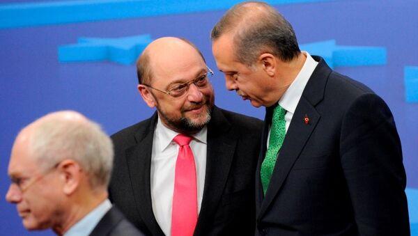 Cumhurbaşkanı Recep Tayyip Erdoğan - SPD lideri  Martin Schulz - Sputnik Türkiye