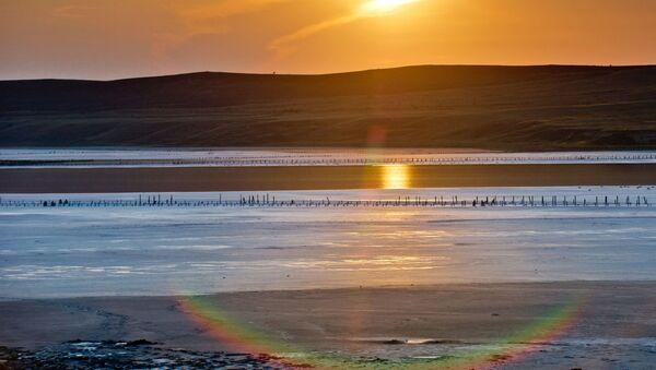 Derinliği azami 1.3 metre olan Çokrak Gölü, 3-4 kilometre genişliğe sahip. - Sputnik Türkiye