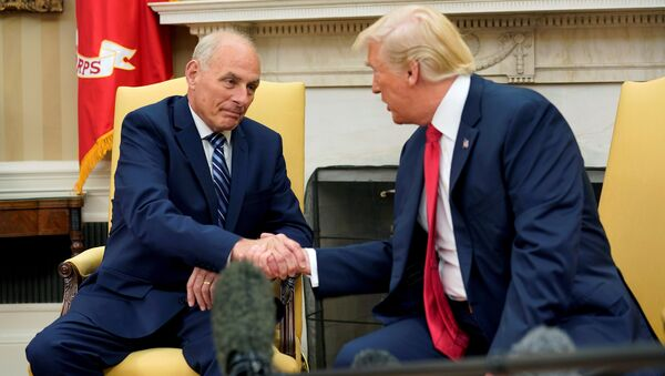 ABD Başkanı Donald Trump - Beyaz Saray Özel Kalem Müdürü John Kelly - Sputnik Türkiye