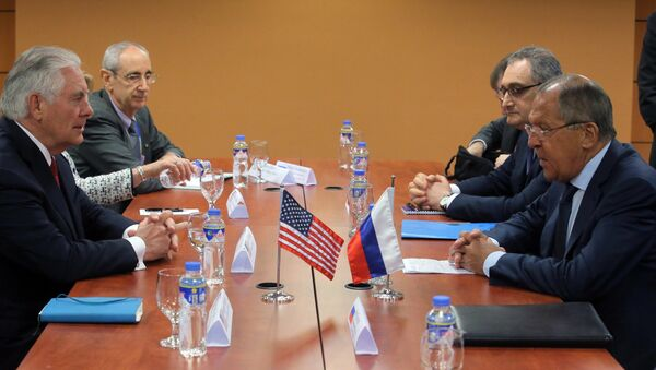 Russian Foreign Minister Sergei Lavrov during a meeting with US Secretary of State Rex Tillerson on the sidelines of the ASEAN in Manila - Sputnik Türkiye