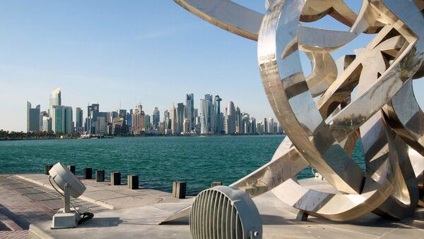 Buildings are seen from across the water in Doha, Qatar June 5, 2017 - Sputnik Türkiye