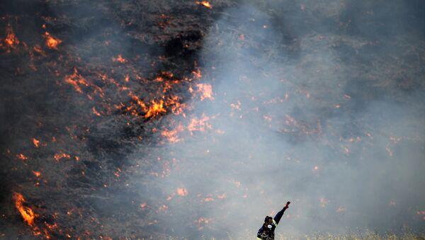 Yunanistan'da yangın - Sputnik Türkiye
