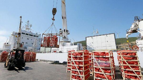 Katar'a ikinci gıda gemisi İzmir'de yüklenmeye başlandı - Sputnik Türkiye