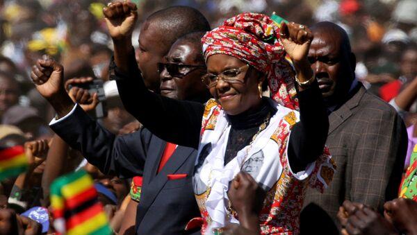 Zimbabwe First Lady'si Grace Mugabe - Sputnik Türkiye