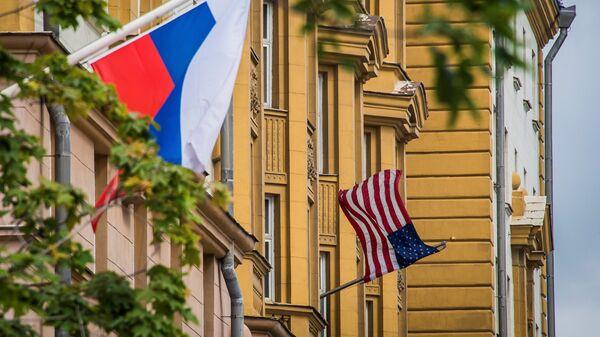 Rusya - ABD Bayrakları - Sputnik Türkiye