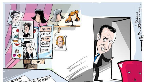 Macron'un üç aylık makyaj masrafı 26.000 euro - Sputnik Türkiye