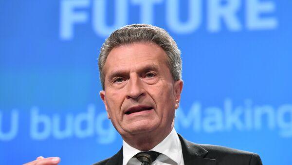 AB Komisyonu yetkilisi Günther Oettinger - Sputnik Türkiye