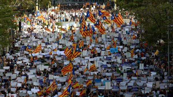 Barselona'da teröre karşı Korkmuyorum gösterisi - Sputnik Türkiye