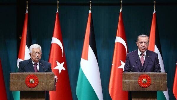 Cumhurbaşkanı Recep Tayyip Erdoğan, Filistin Devlet Başkanı Mahmud Abbas - Sputnik Türkiye