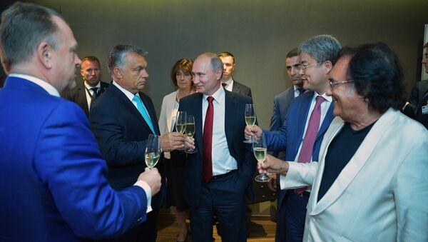 Rusya Devlet Başkanı Vladimir Putin, Macaristan Başbakanı Viktor Orban - Sputnik Türkiye