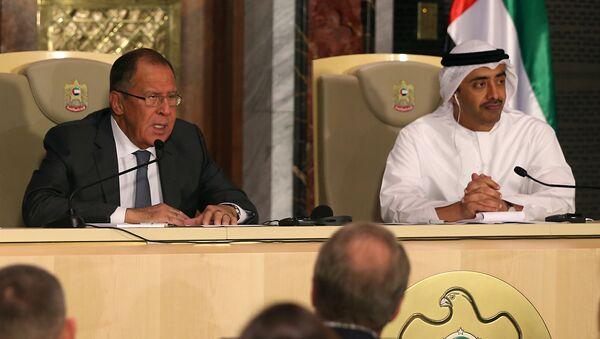 Rusya Dışişleri Bakanı Sergey Lavrov ve BAE Dışişleri Bakanı Şeyh Abdullah bin Zeyid el Nahyan - Sputnik Türkiye