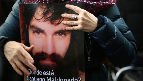 Kayıp Arjantinli aktivist Santiago Maldonado - Sputnik Türkiye
