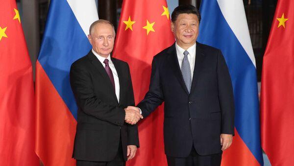 Rusya Devlet Başkanı Vladimir Putin ve Çin Devlet Başkanı Şi Cinping - Sputnik Türkiye