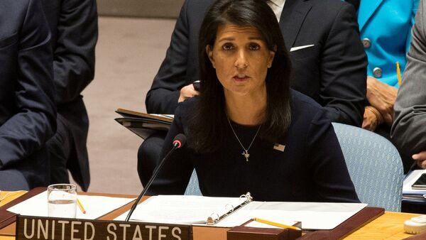 ABD'nin Birleşmiş Milletler Daimi Temsilcisi Nikki Haley - Sputnik Türkiye