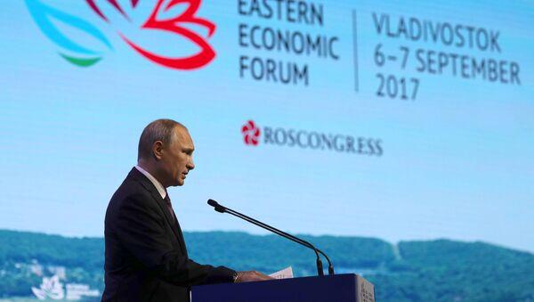 Rusya Devlet Başkanı Vladimir Putin, Doğu Ekonomik Forumu'nda - Sputnik Türkiye