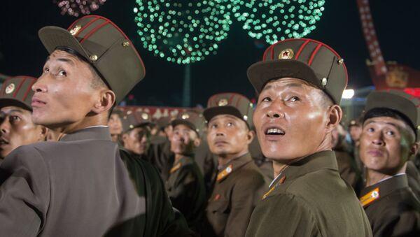 Kuzey Kore'de hidrojen bombası denemesi kutlamaları - Sputnik Türkiye