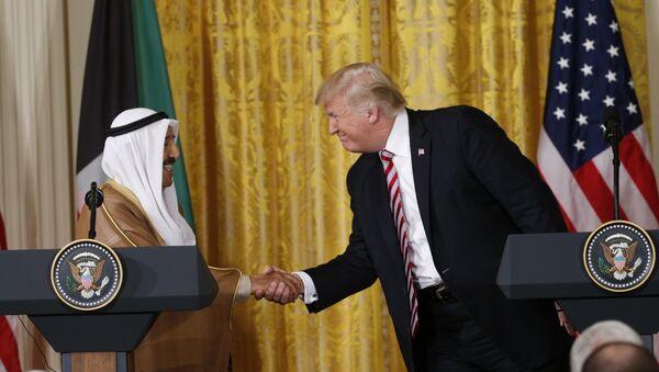 ABD Başkanı Donald Trump ile Kuveyt Emiri Şeyh Sabah Ahmed Cabir el Sabah - Sputnik Türkiye
