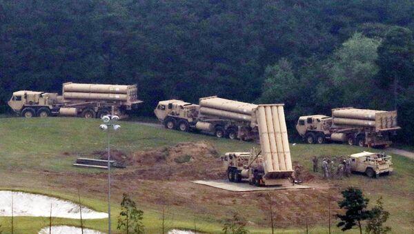 Güney Kore'de kurulan THAAD sistemleri - Sputnik Türkiye