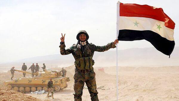 The Syrian army servicemen, broke the three-year siege of Deir ez-Zor, in the area of the 137th mechanized brigade in Syria - Sputnik Türkiye