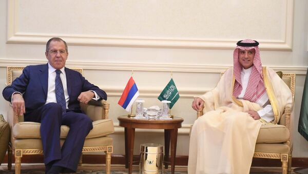 Rusya Dışişleri Bakanı Sergey Lavrov - Suudi Arabistan Dışişleri Bakanı Adil el Cubeyr - Sputnik Türkiye