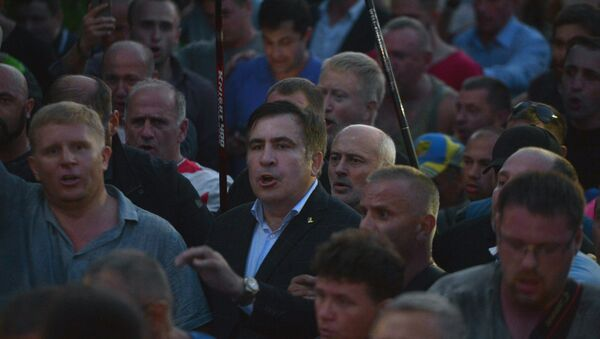 Eski Gürcistan Devlet Başkanı Mihail Saakaşvili - Sputnik Türkiye